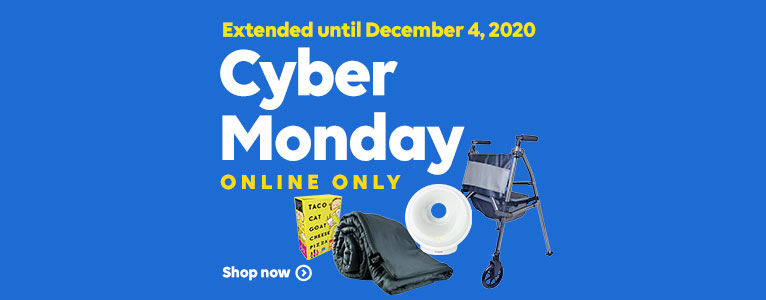 Extended until December 4, 2020. Cyber Monday. Online Only. Shop now.