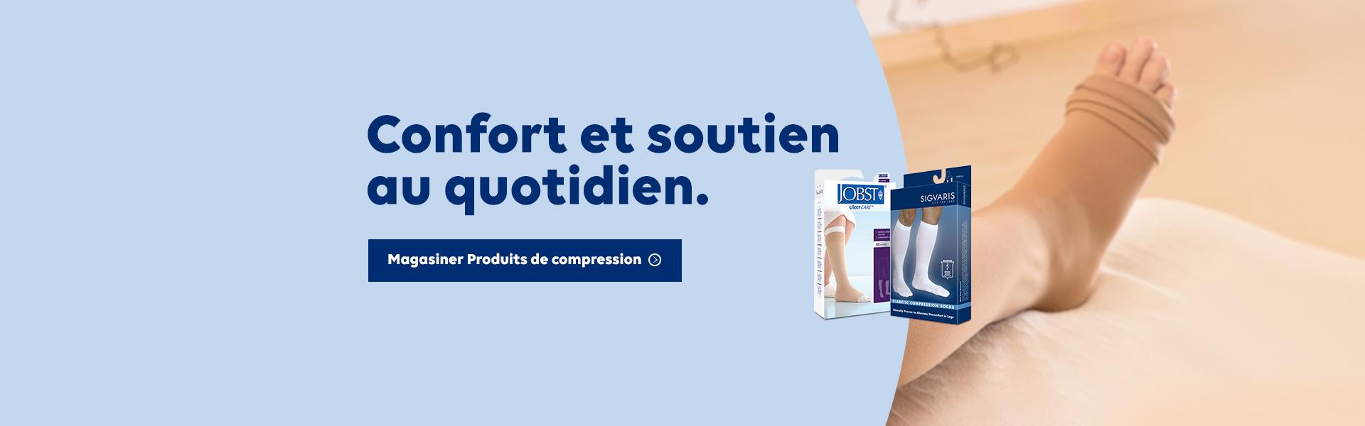 Confort et soutien au quotidien. Magasiner Produits de compression.