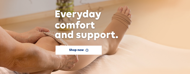 Everyday comfort. Lasting support. Shop Compression products.