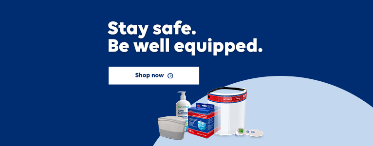 Stay safe. Be well equipped. Shop now.