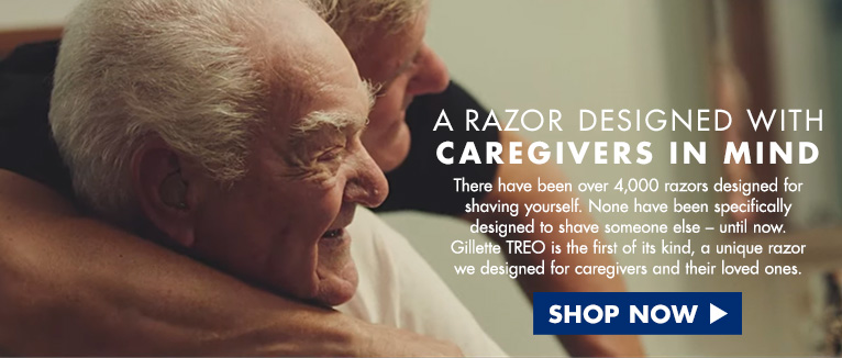A razor designed with caregivers in mind. There have been over 4,000 razors designed for shaving yourself. None have been specifically designed to shave someone else - until now. Gillette TRO is the first of its kind, a unique razor we designed for caregivers and their loved ones. Shop now.
