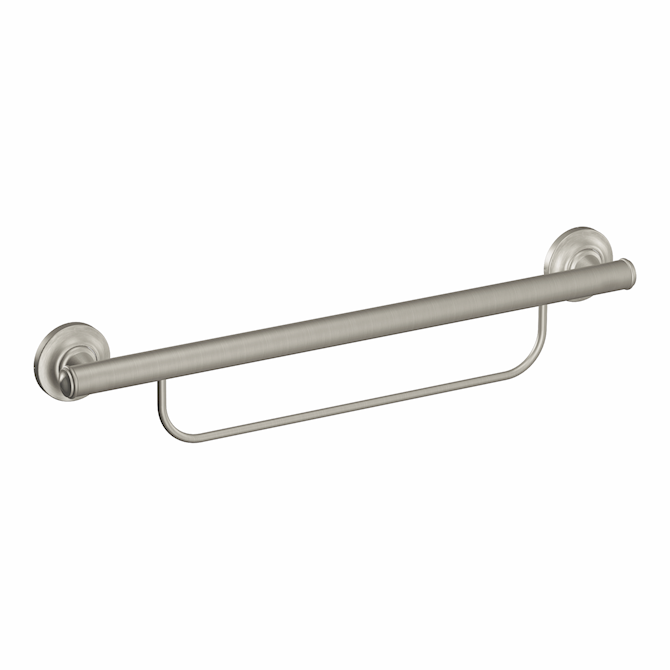 Moen Home Care® Grab Bar With Towel Bar 24 Brushed Nickel