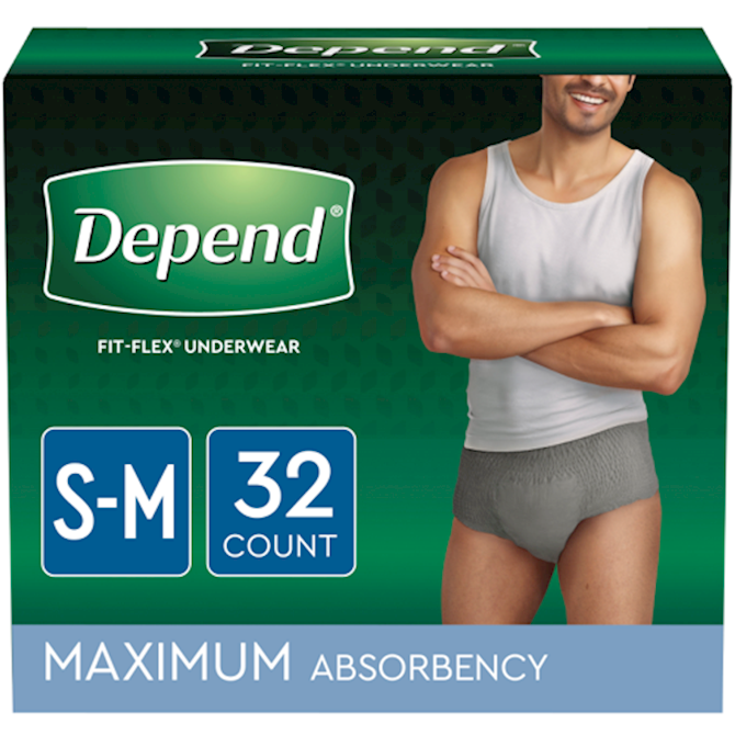 a60afd8266a59 Depend® Fit - Flex Incontinence Underwear For Men, Maximum Absorbency, S/M  , 32 Count