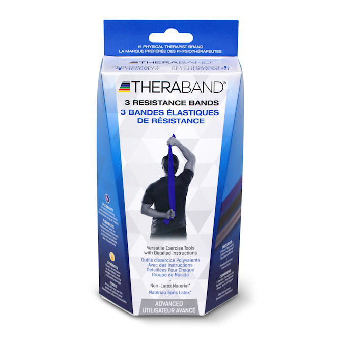 Black Theraband Latex Free by the foot Exercise Resistance Band Physical Therapy